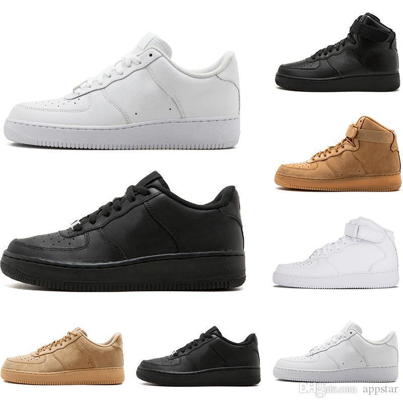 2019 Classical All High and low White black Wheat men women Sports sneakers Running Shoes 1 skate Shoes size 36-45