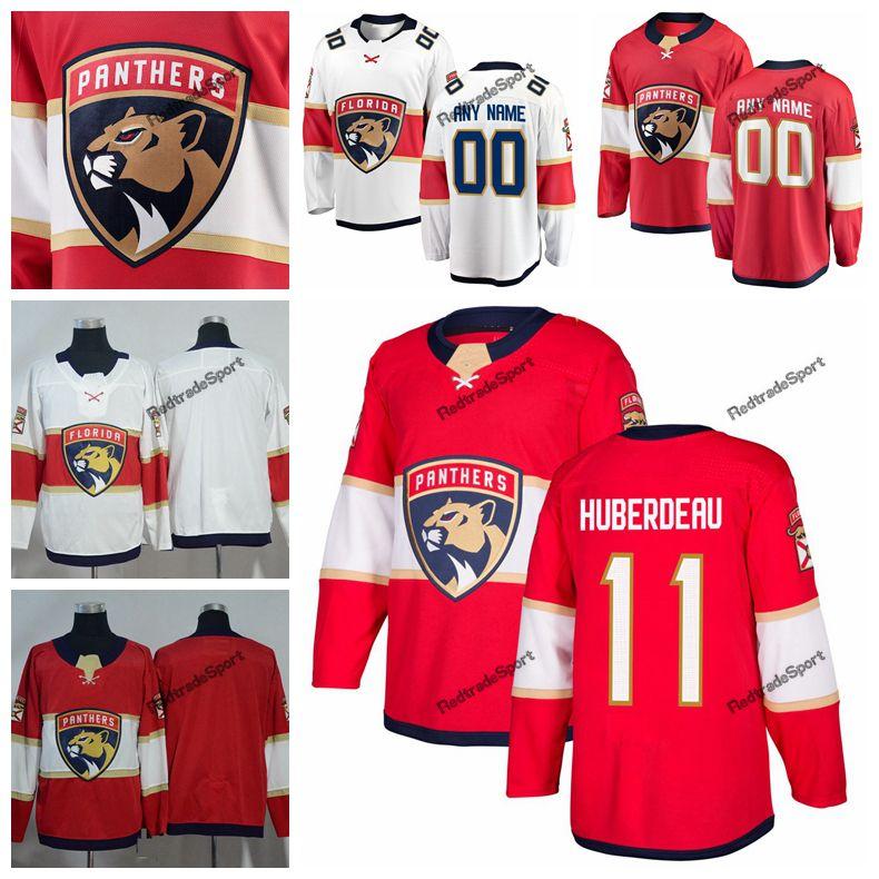 official photos b233d cbe89 2019 Jonathan Huberdeau Florida Panthers Hockey Jerseys Mens Custom Name  Home Red #11 Jonathan Huberdeau Stitched Hockey Shirts S-XXXL