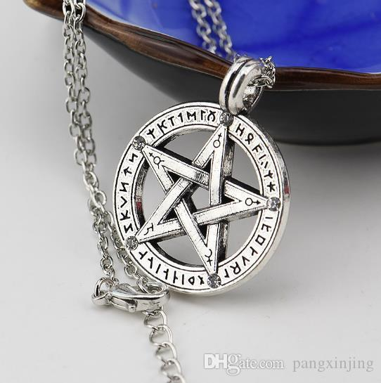 Pentagram Necklace Pendant hip-hop personality jewelry of European and American fashion trend