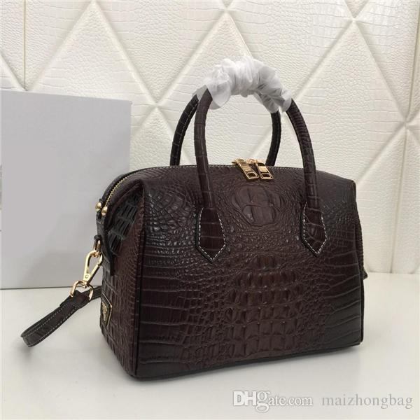 dd84228527 2019 Women Designer Handbags Alligator Pattern Genuine Cow Leather ...