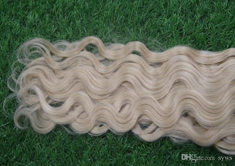 Blonde Color Malaysian Virgin Hair Body Wave Bundles Malaysian Unprocessed Double Weft Hair Weave Bundles 100% Human Hair Bundles