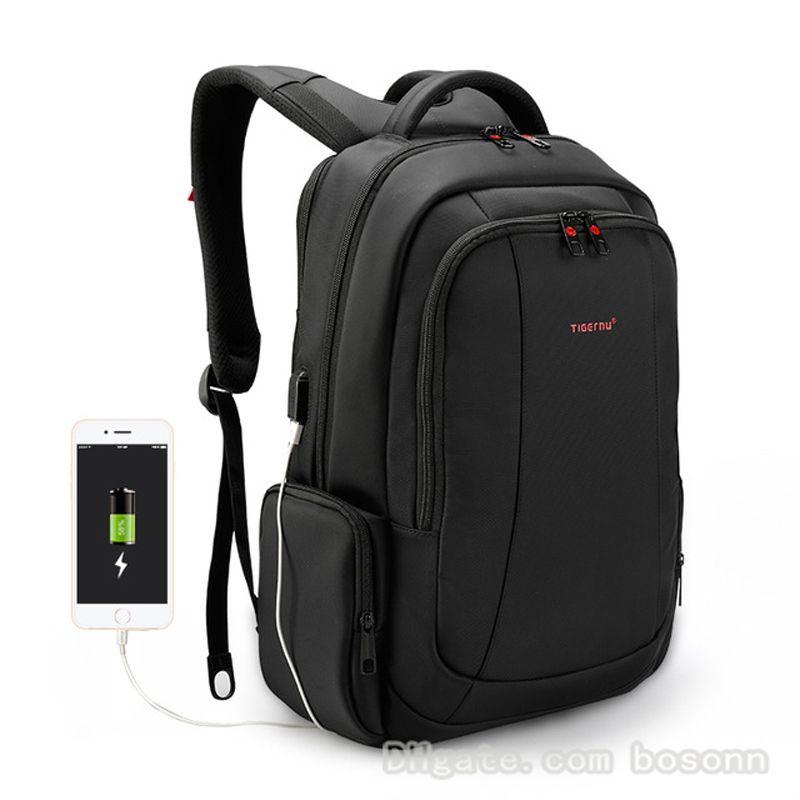 724ae124c Compre Marca Moda Hombre Antirrobo Negocio Mochila Para Portátil 15.6  Impermeable Carga USB Trabajo Escolar Mochilas De Viaje Negro A $25.43 Del  Bosonn ...