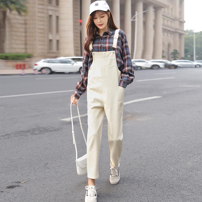 cd9915b332e6a Women Denim Pants Overalls Rompers 2019 Spring Summer Fashion Female  Vintage Loose Casual Soild Jeans Denim Harem Pant Trousers