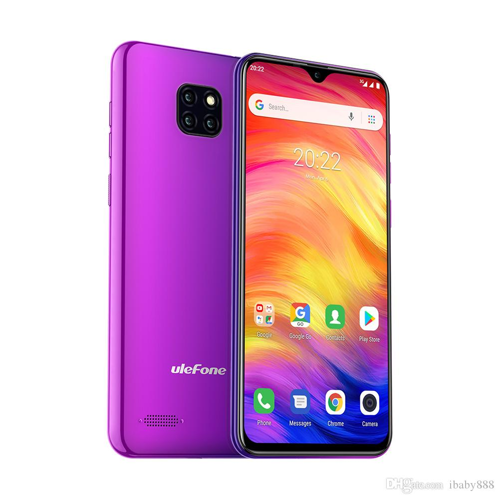 6 1 Water-drop Full Screen uleFone Note 7 Face Unlock 3G WCDMA Quad Core  MTK6580 1GB 16GB Android 9 0 8MP 2MP 2MP 3 Rear Cameras Smartphone