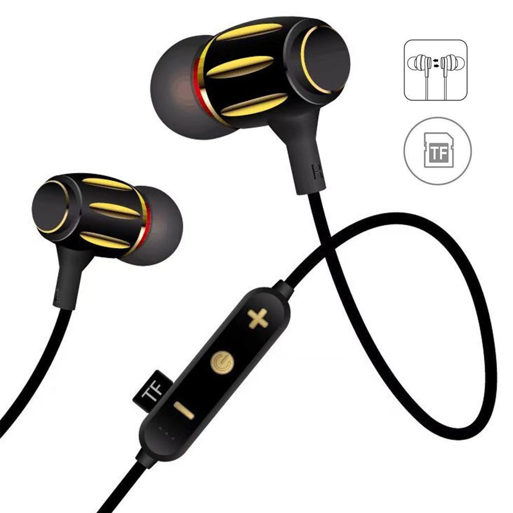 Acquista Cuffie Wireless Con Microfono E Alloggiamento In Metallo Cuffie  Auricolari Magnetiche Con Auricolari Bluetooth Sweatproof A  8.55 Dal  Jdstore ... 9785df789100