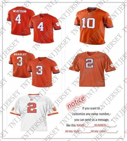936f0c321fd Cheap Custom Clemson Tigers Football Jerseys Deshaun Watson Sammy ...