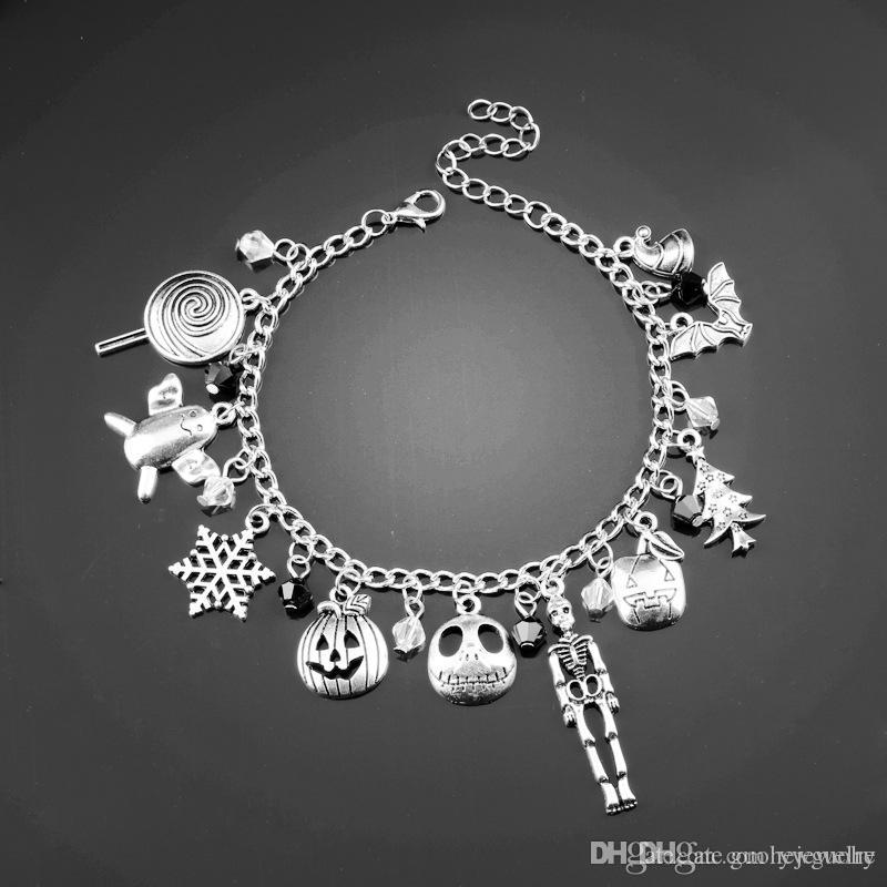 41e2cd71fe5c8 New arrival women charm bracelets Snowflake Stick Crystal Beads bracelet  Handmade DIY Jewelry Christmas Eve Bracelet
