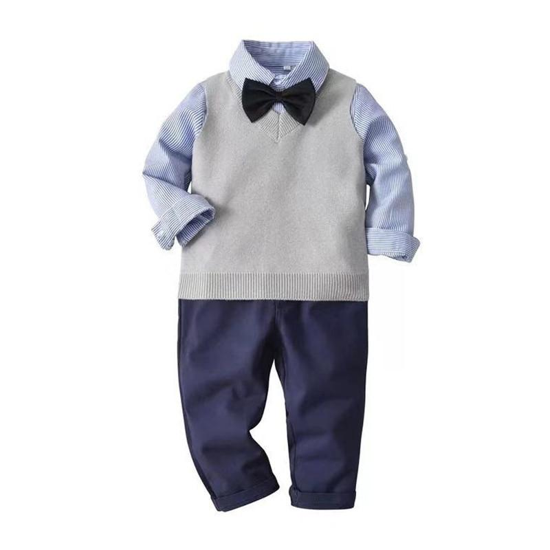 11c9293ad 2019 2019 Baby Boys Birthday Clothing Set Infant Newborn Gentleman Long  Sleeve Bow Tie+Vest +Shirt+Pants Suits Kids Fall Clothing Set From  Nextbest01, ...