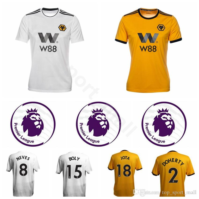 4cd9b843175 2019 Men Soccer 18 JOTA Jersey Wolverhampton Wanderers FC 18 DIOGO J 9  JIMENEZ 10 MOUTINHO Football Shirt Kits Uniform Custom Name Number From ...