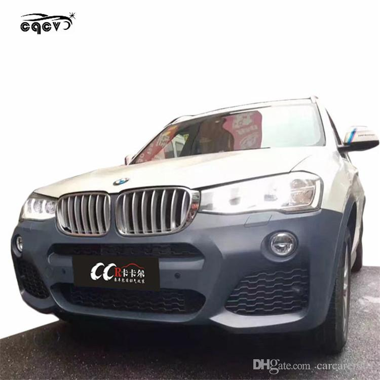 Perfect fitment X3M sports style body kit for BMW X3 F25 front bumper rear  bumper side skirts fender wing spoiler and hood