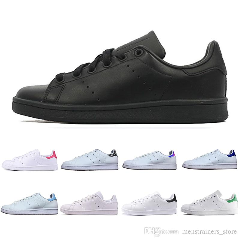 the best attitude 6b29e eba4d Newest 2019 Stan Smith Classic men woemn Casual shoes smiths Triple black  white red gold outdoor leather Sports Designer Trainer Sneakers