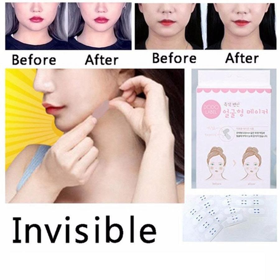 Invisible Face Facial Aufkleber Facial Line V-Form Face Lift Tape für Gesicht Make Up Beauty Tools 40 Teile / satz RRA662