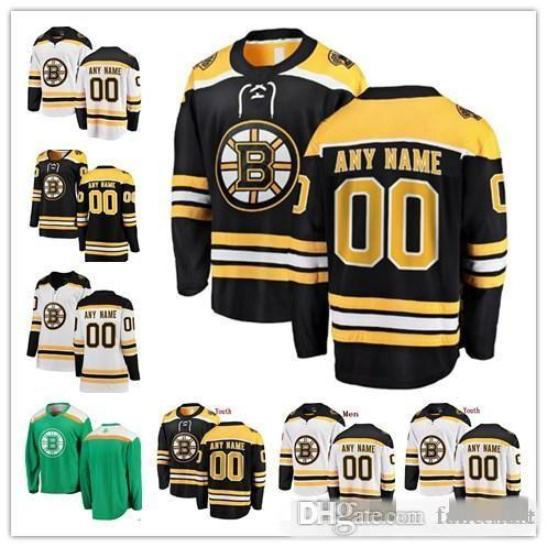 new styles 1d148 4e391 Custom Boston Bruins 2019 Winter Classic White Jerseys Any Number Name men  women youth kid Black Third Yellow Vintage Pastrnak Marchand Orr
