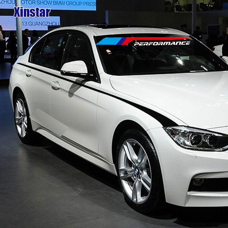 M Power Performance Car Side Sticker For Bmw E28 E30 E34 E36 E39 E46