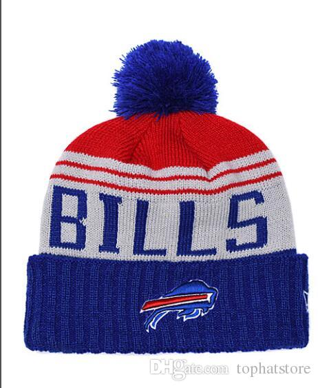 NEW Men s Knitted Beanie Wool Warm Buffalo Striped Sideline Cuffed ... e5ae4d041