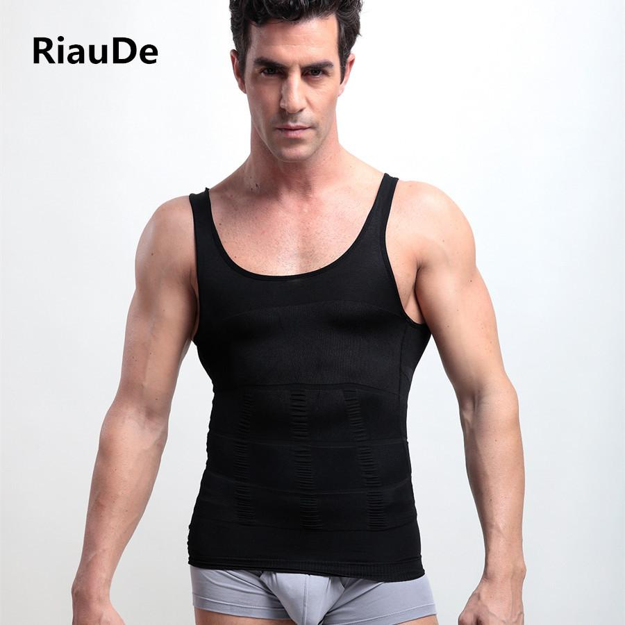 77e14e7321b 2019 RiauDe Men Sexy Hot Slimming Shapewear Vest T Shirt Abdomen Fat Reduce  Compression Body Shapers Black White Fitness Clothing From Wqasysos