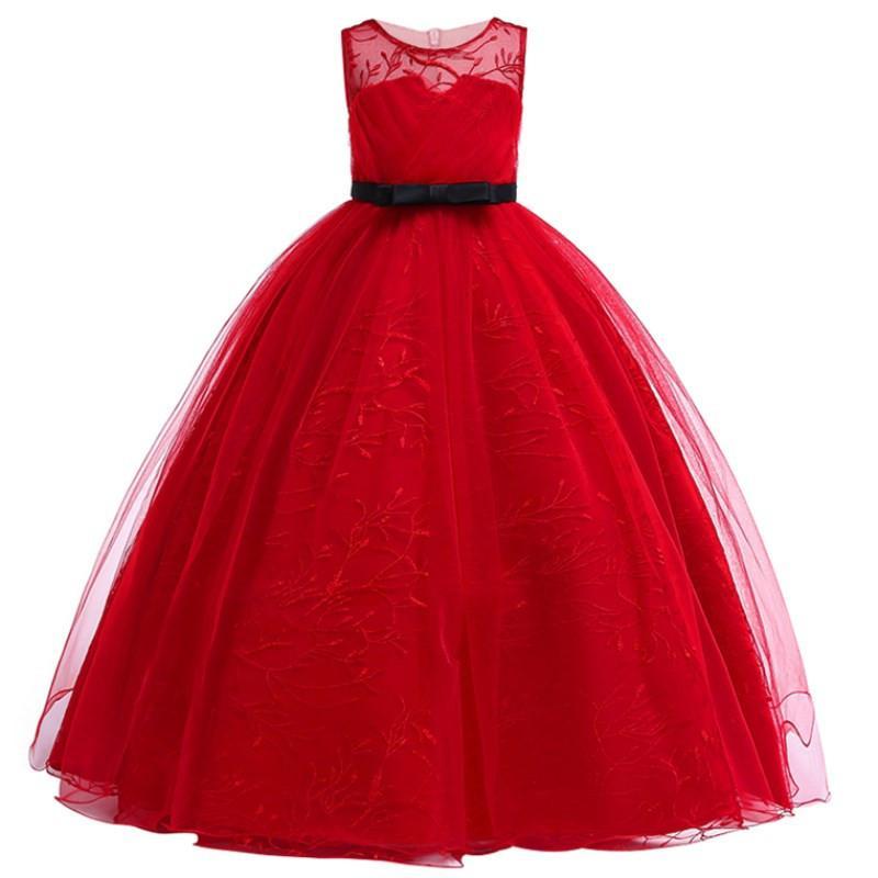 7d4752472ed5e Satın Al Zarif Prenses Dantel Tutu Elbise Çocuklar Çiçek Nakış Düğün  Gelinlik Modelleri Kızlar Için Çocuk Elbiseler Parti Uzun Elbisesi, $30.26  | DHgate.