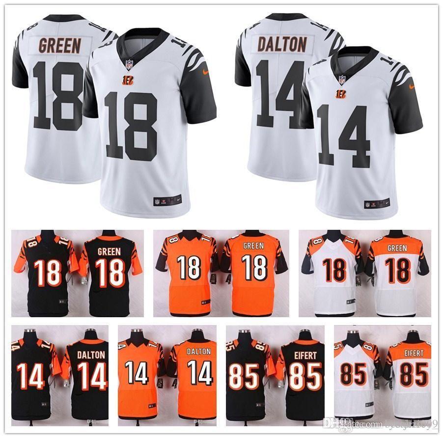 020380ca Men's Cincinnati Bengals jersey 18 A.J. Green 14 Andy Dalton Joe Mixon 85  Tyler Eifert vontaze burfict 100% stitched youth women Jersey