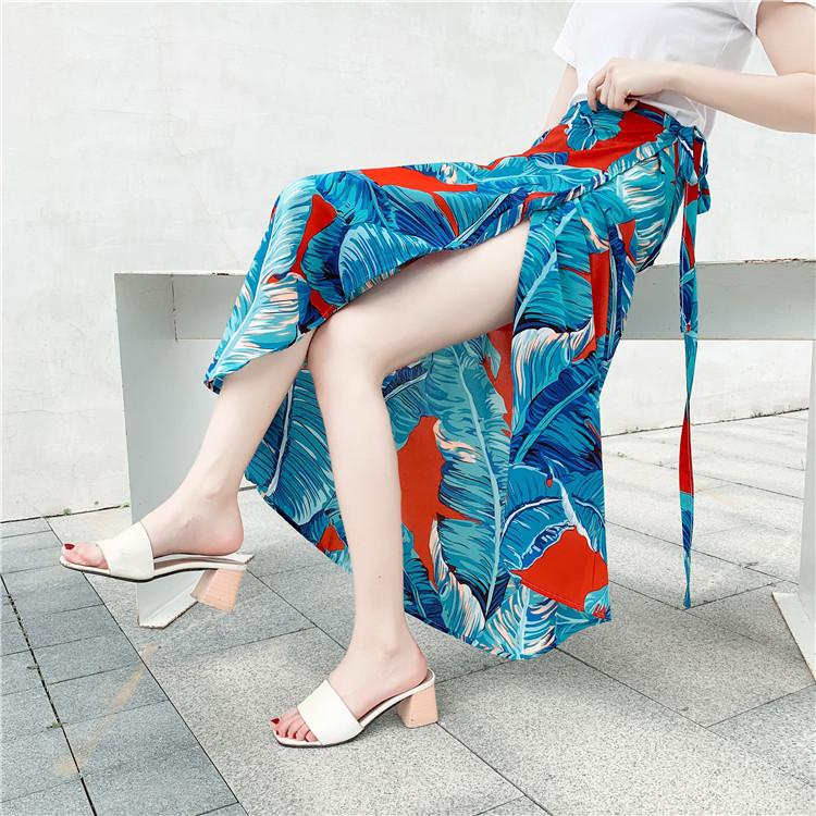 Thailand On Vacation Skirt Woman 2019 A Piece Of Type Half-body Skirt Chalaza Chiffon Longuette Irregular Shivering Wrap Skirt