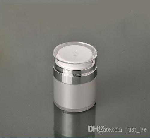 Capacity 15g pear white Acrylic cream jar,30g Acrylic vacuum cream cans,plastic 50g empty airless Cosmetic Jar
