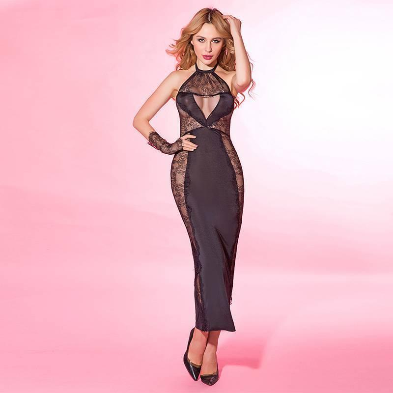 0ad097d29ba Porn Women Sexy Babydoll Black Lace Lingerie Hot Erotic Nightwear Bust  Hollow Out Halter Dress New Costumes 6137 Sexy Micro Skirt Short Pencil  Skirts From ...