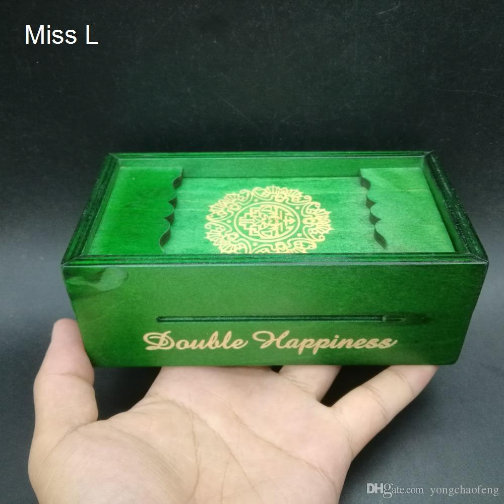 Fun Gift Box Wood Secret Box Brainteaser Puzzle Wooden Puzzle Game Magic Toy Money Coin Box