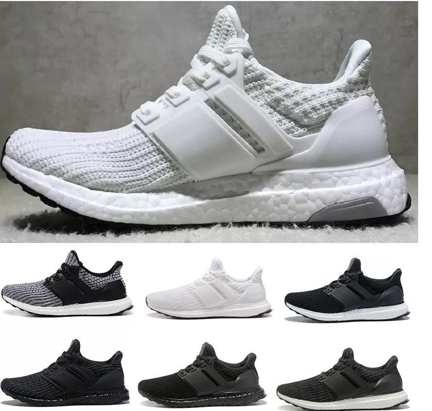sports shoes 84d78 b56bb 2019 Ultra boost Casual Shoes 3.0 4.0 Men Women Stripe Balck White Oreo  Sneakers Ultraboost Shoes Trainers Size 36-45