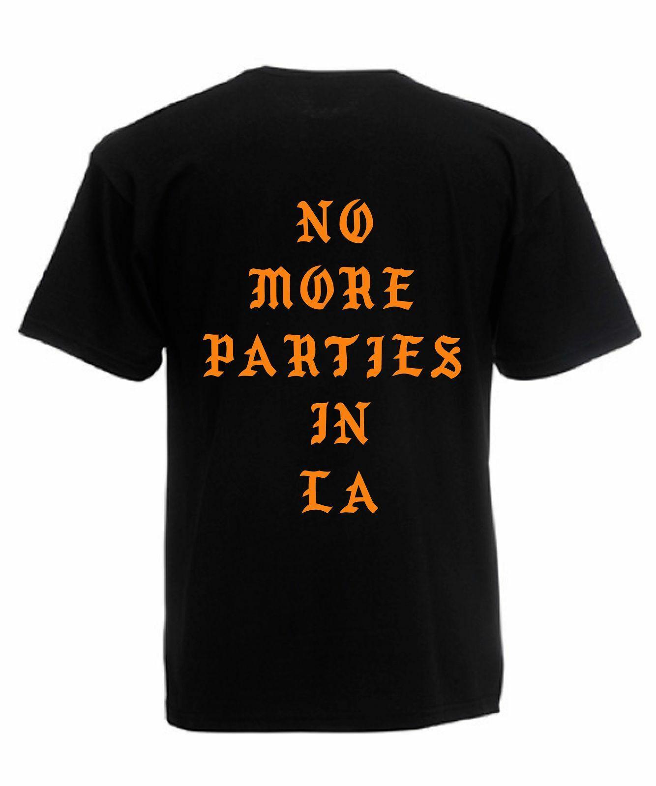0e4f3699e0 Compre Não Mais Festas Em LA Camiseta Kanye West Inspirado Unisex Tee  Tamanho Discout Hot New Tshirt Fear Cosplay Liverpoott Tshirt De Xixicup