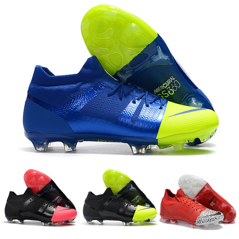 b35a44fe6 2019 New Original Brand Mercurial Greenspeed 360 FG Soccer Shoes Fashion  Cr7 Football Boots Sneakers For Men Black Pink Green Red From Irvingjersey