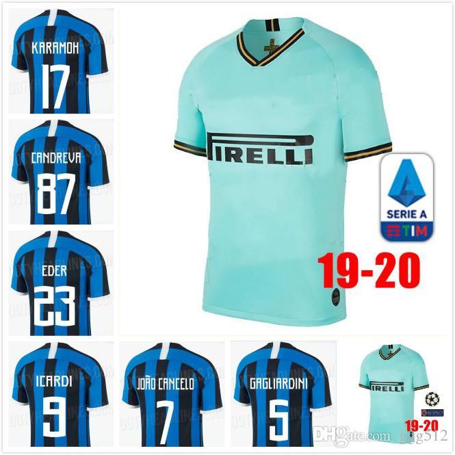 eb8d978fe 2019 2019 Milan Soccer Jersey 19/20 Home Inter Blue #9 ICARDI Soccer ...