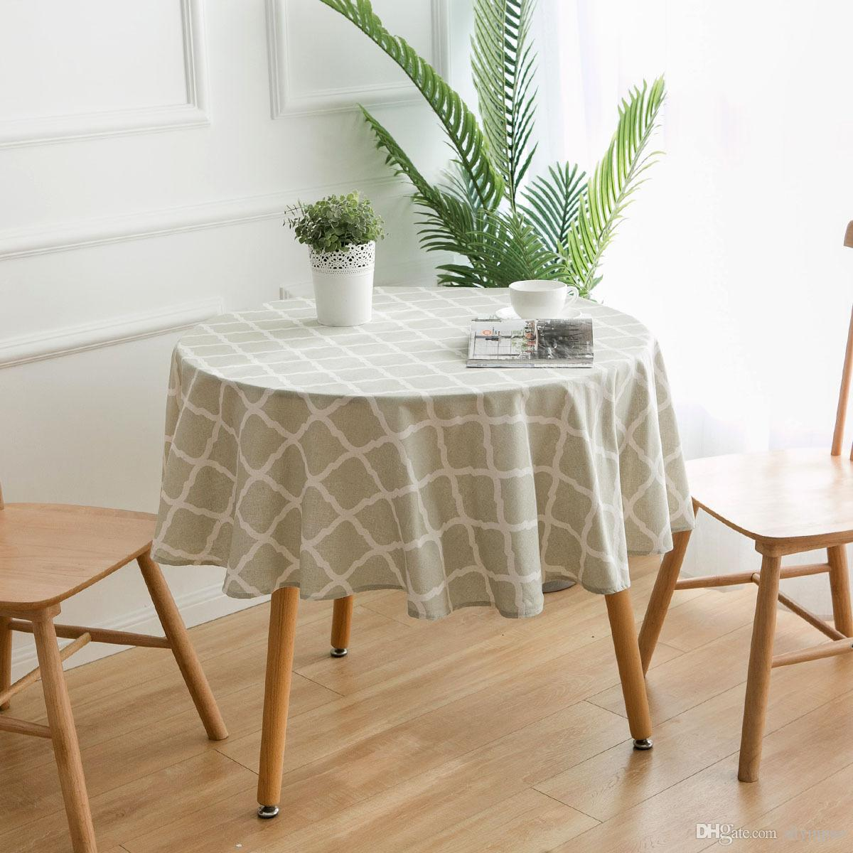Small Round Table Cloths.Tablecloth Geometric Diamond Round Tablecloth Small Table Cloth Coffee Table Cloth Cotton And Linen Printing Free Shipping