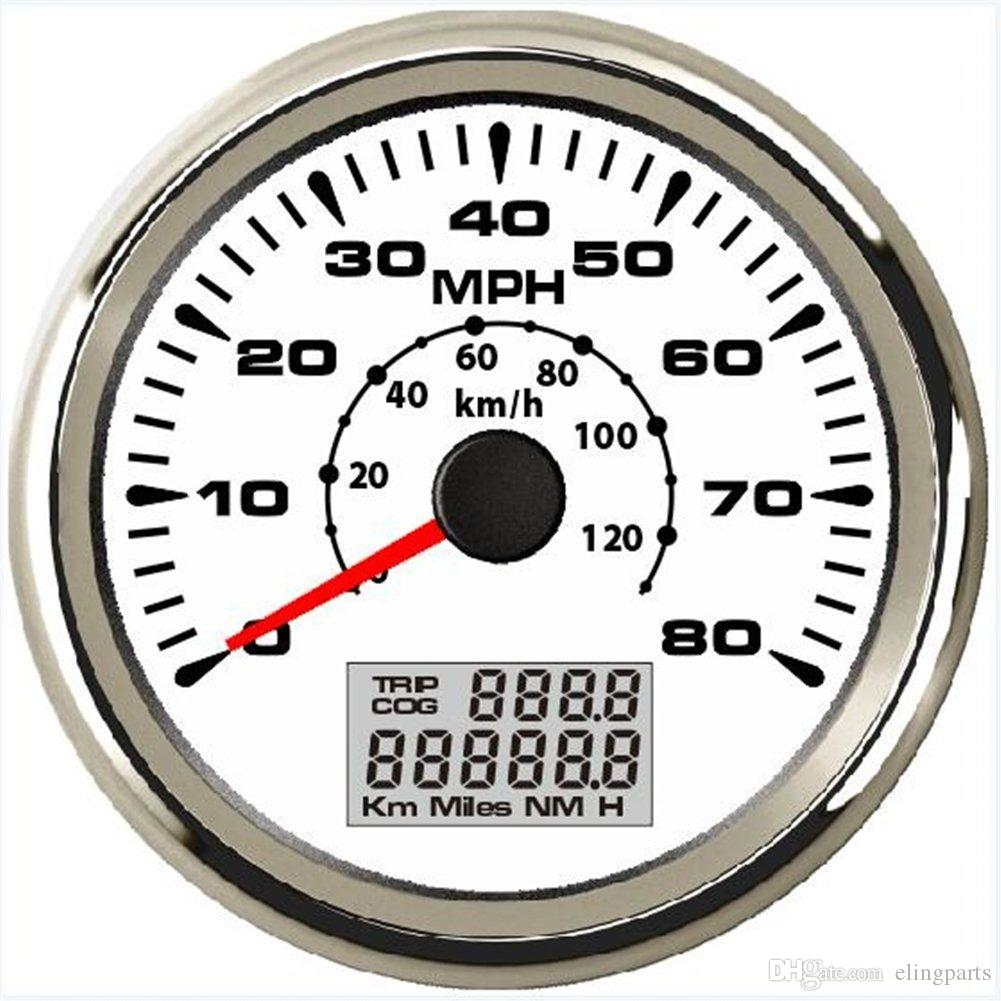 0-80MPH 0-120KM/H GPS Speedometer Odometer Speed Gauge For Boat Car  Motorcycle Truck With ODO COG TRIP