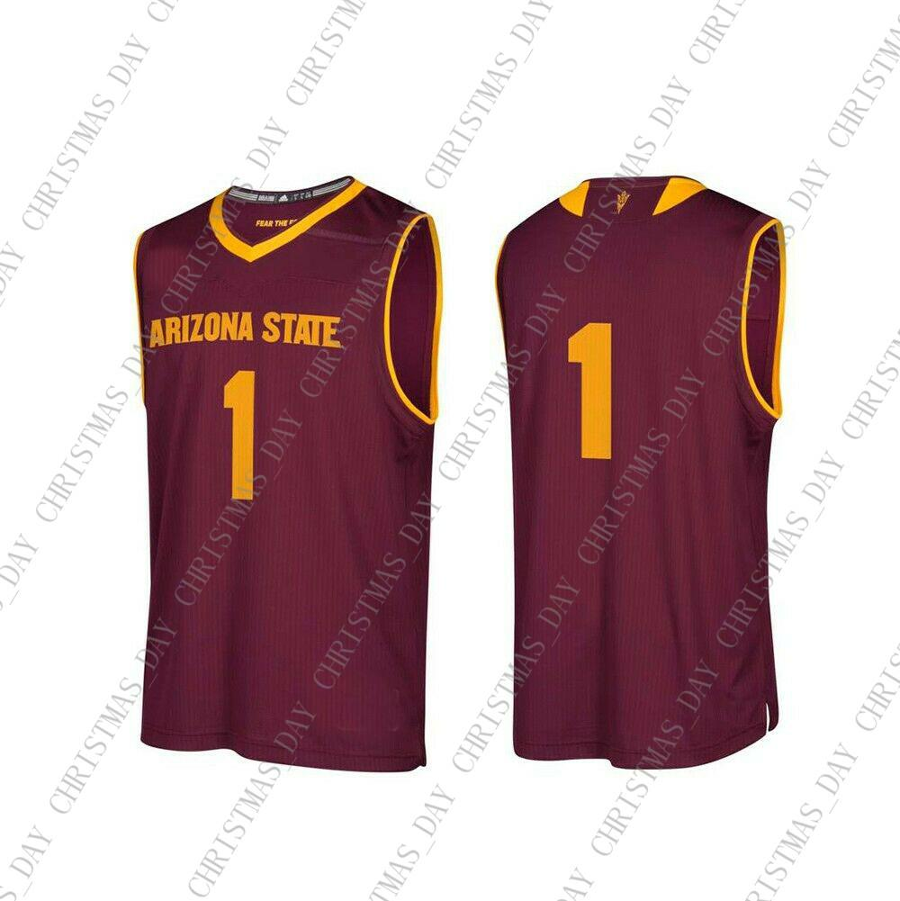 a1774213f03 2019 Cheap Custom Arizona State Sun Devils NCAA  1 Maroon Basketball Jersey  Personality Stitching Custom Any Name Number XS 5XL From Christmas day