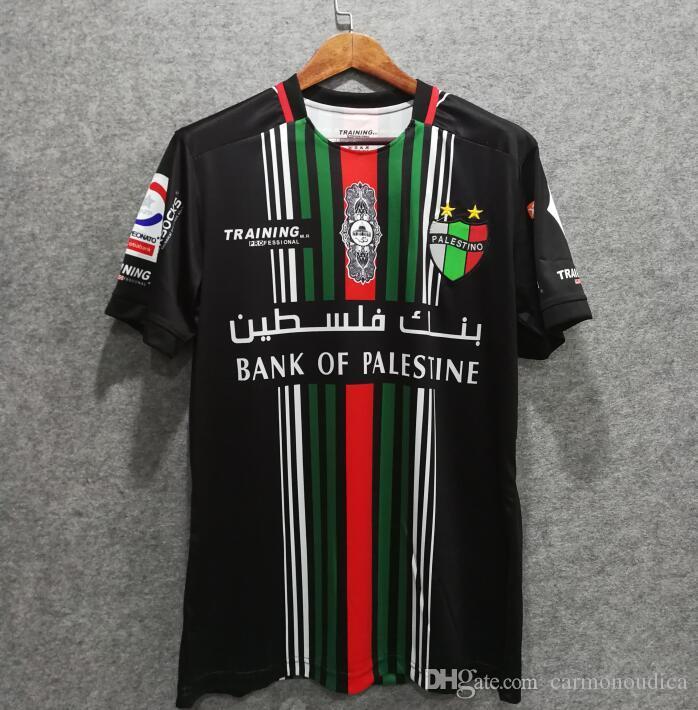 Compre Frete Grátis 2019 Palestina Camisa De Futebol Em Casa Número Do Nome  Personalizado Top Thai AAA Uniformes De Futebol De Qualidade De Futebol  Jersey ... 497a341cf15f3
