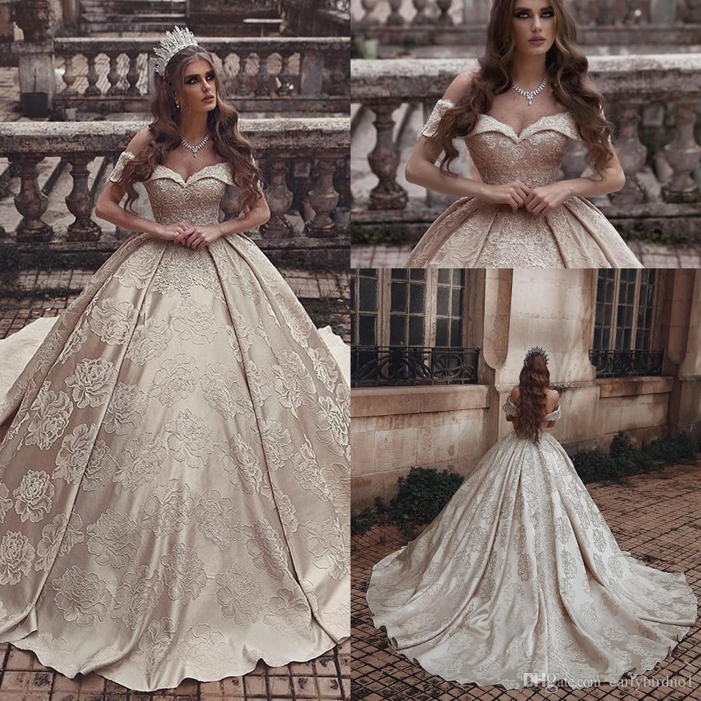Short Vintage Lace Wedding Dress Off White