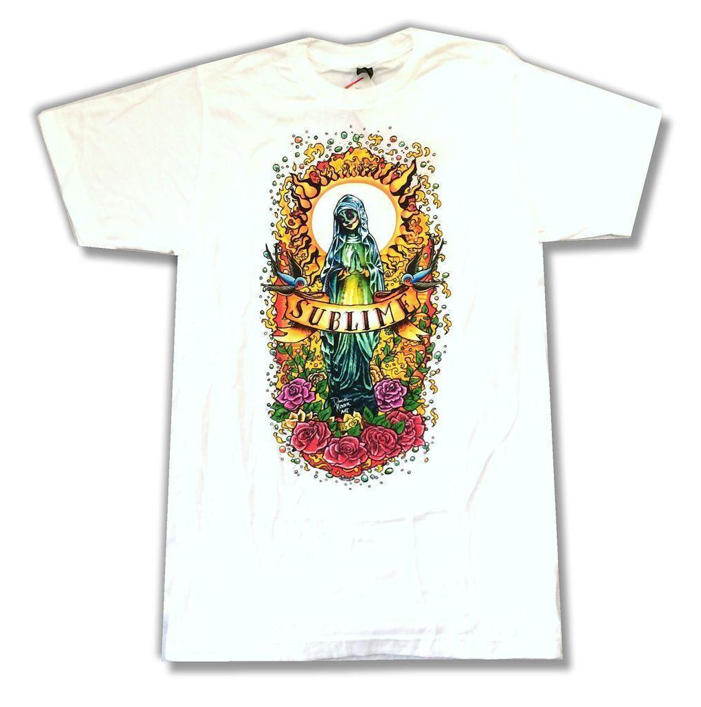 2a6ed89785a1 Sublime Praying White T Shirt New Official Band Merch Daniel Mercer Art  Cotton Cool Design 3D Tee Shirts Dirty T Shirts Graphic Tee Shirts From  Jie12, ...