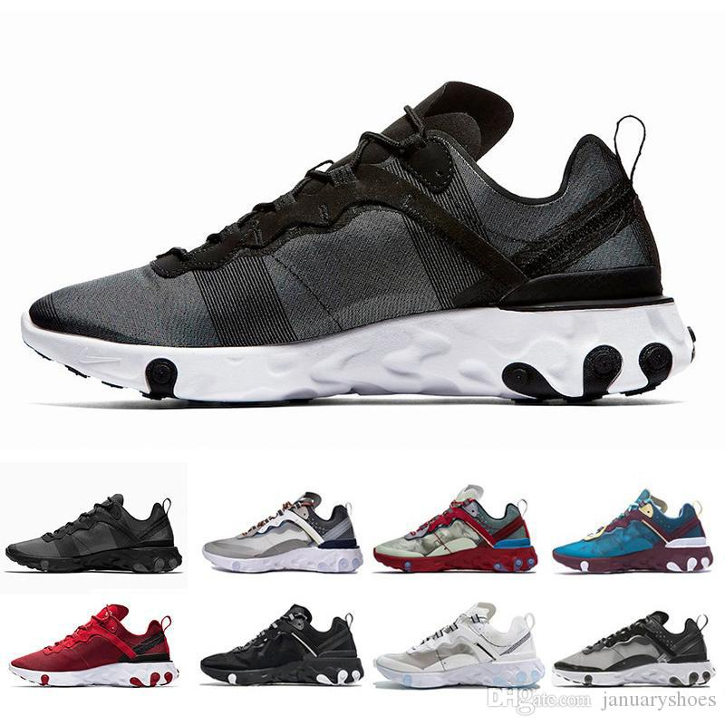 brand new 1de24 2ef23 Acheter Nike Air Max Airmax 87 Epic React Element 87 Undercover Chaussure  Voile Light Bone Bleu Chill Pour Hommes Femmes Top Qualité Designers De  Mode ...