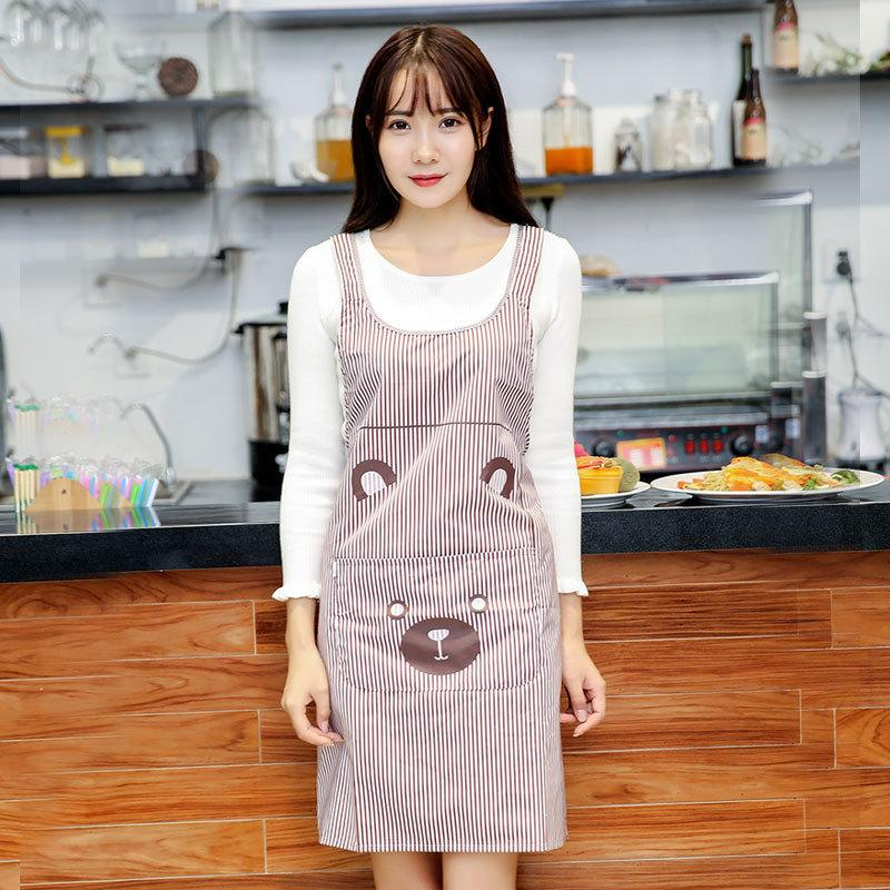 Shoulder Strap H-style Fashion Apron Slipper Back Sleeveless Home Overalls Waterproof Cute Apron