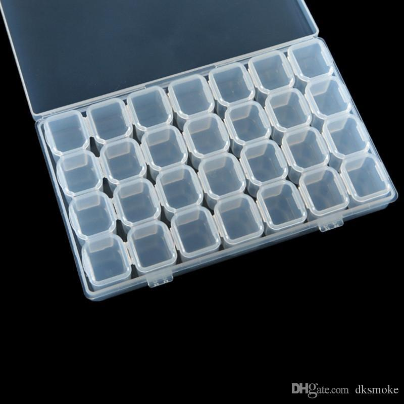 e97c38129 Compre Nuevos Accesorios De Bordado De Diamante Desmontables Calientes De  28 Láminas Cajas Para Pintar Con Diamantes Casos De Punto De Cruz  Organizador De ...