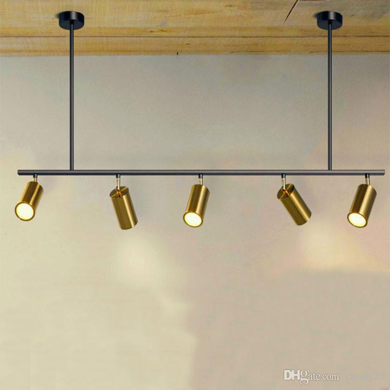 Nordic rotating led spotlights 5 /7 Heads LED lamps Suspension For showroom clothing store Gold corridor track Art villa G822