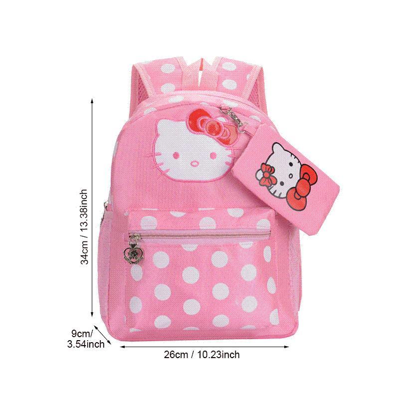 4060c5c0a BUCHNIK Hello Kitty Backpack Travel School Bag Girl Pink Canvas Double  Shoulder Pack Book Umbrella Organizer Accessories Stuff Back Pack Mochilas  Jansport ...
