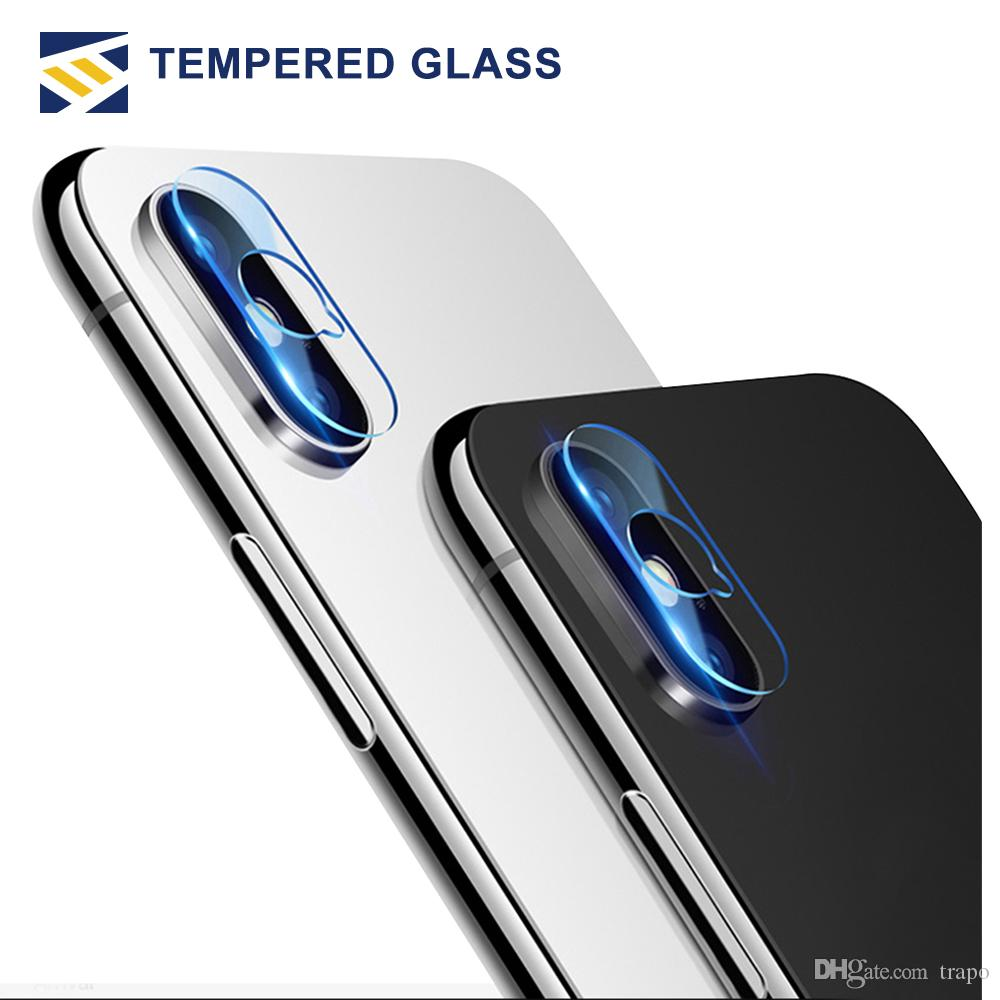 For iphone XR XS MAX X lens tempered glass 2.5D Film Camera Lens Screen Protector Back Cover Glass With Retail package