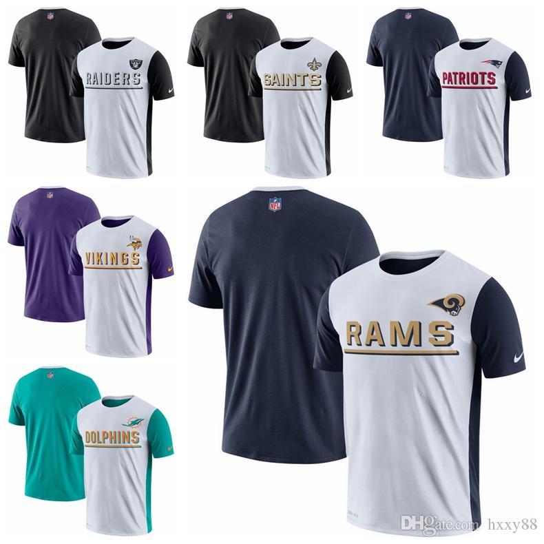 15cf8dad Oakland Raiders New Orleans Saints New Patriots Minnesota Vikings Miami  Dolphins Los Angeles Rams Champ Drive 2.0 Performance T-shirt