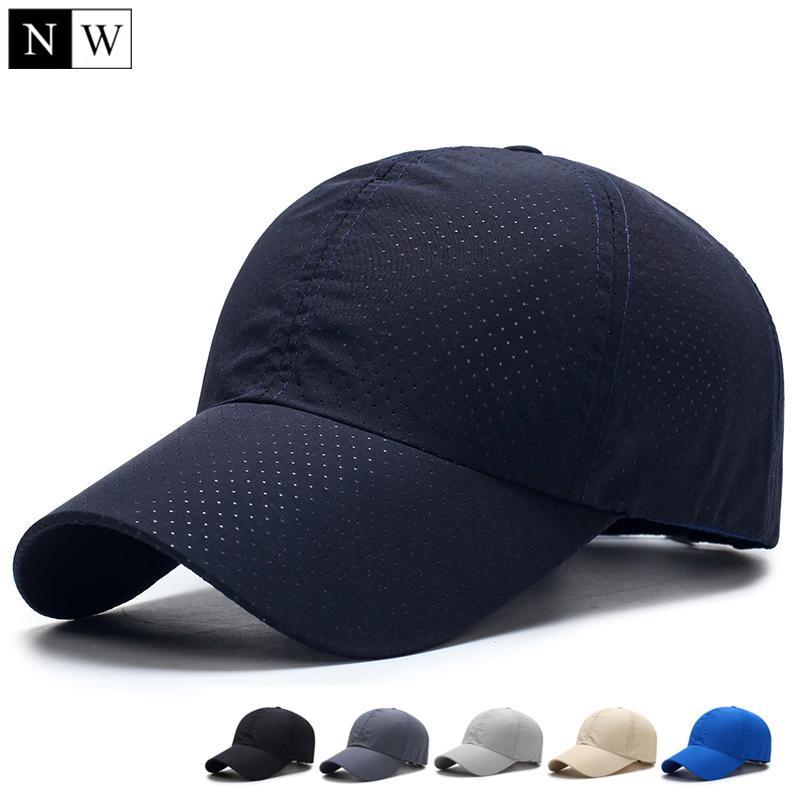 Solid Summer Baseball Cap Men Snapback Women Quick Dry Mesh Cap Breathable  Sun Hat Richardson Caps Customized Hats From Yesterdayness123 7f4763d327