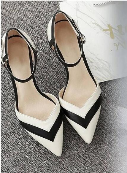 9e3644a1266 NEW Women Pumps High Heels Thin Heel Kitten Heels Ladies Shoes ...