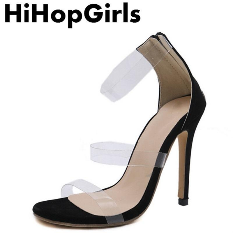 Dress Hihopgirls Summer New Rome Solid Color Zipper Pumps Women Sandals  Sexy High Heels Fashion Transparent Peep Toe Party Woman Shoes Silver High  Heels ... 3e510795e6c0