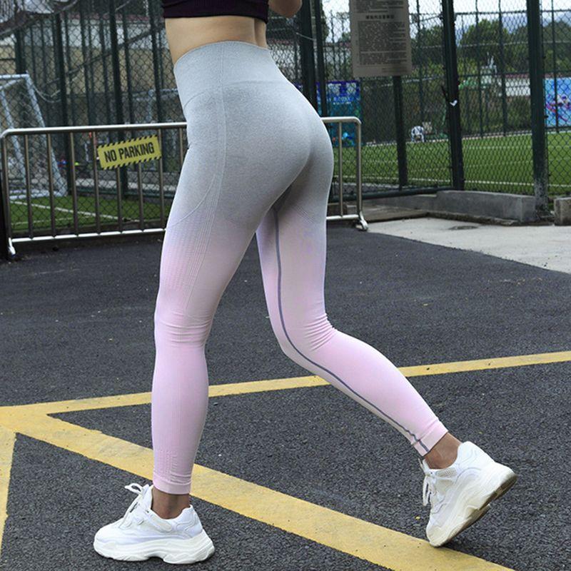 e8cb8ee9a8 2019 Fashion Seamless Women High Waist Workout Leggings Hollow Out ...