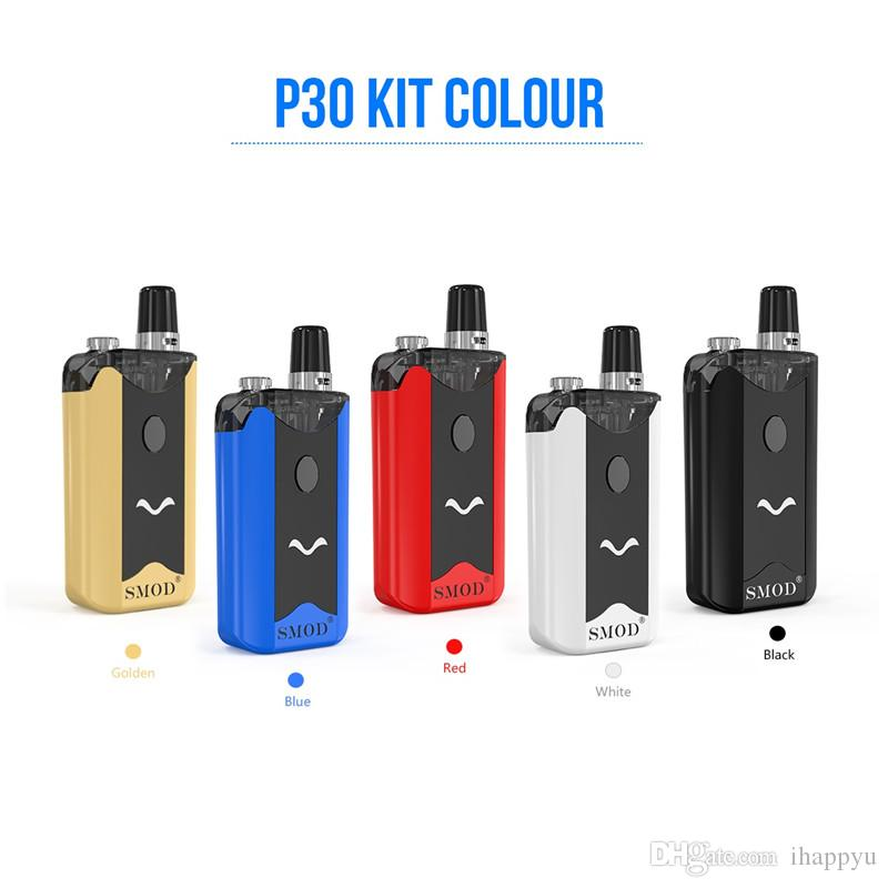 2019 Kangvape SMOD P30 POD DEVICE Starter Kit With 1000mah Vape Battery Mod 0.6/1.2ohm 3ml Cartridges 5 Colors 100% Authentic