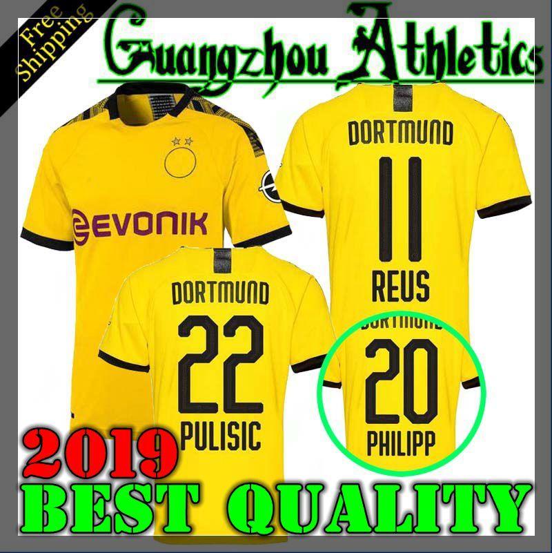 wholesale dealer 1dd34 35c12 19 20 Dortmund Borussia REUS M.GOTZE home away Jerseys 2019 2020 SCHURRLE  PISZCZEK PULISIC jersey MKHITARYAN HUMMELS GOTZE sport shirt