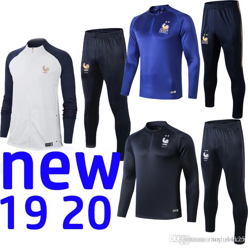 100th anniversary FR tracksuit 19 20 French training suit Maillot de Foot survetement football tracksuit 2019 2020 MBAPPE training suit